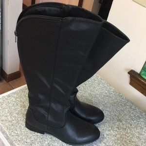 Shoedazzle Kendall Size 7 Black Womens Boots